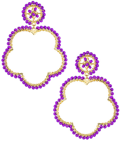 Bobbi Earrings- Grape