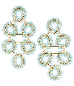 Ginger Earrings- Aqua