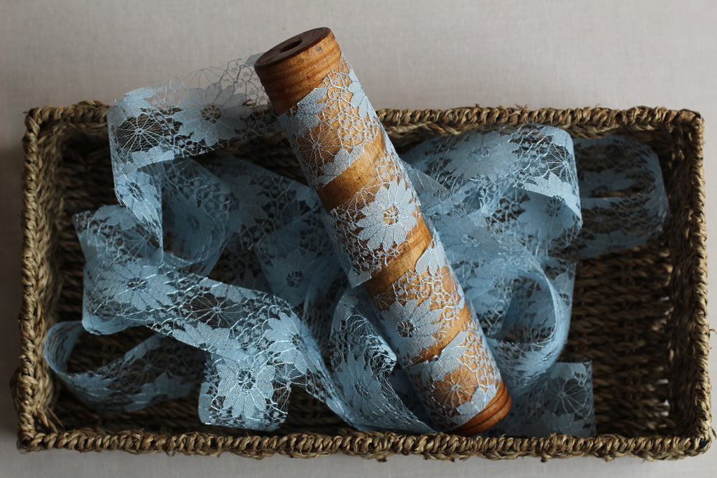 Lace Ribbon in Powder Blue