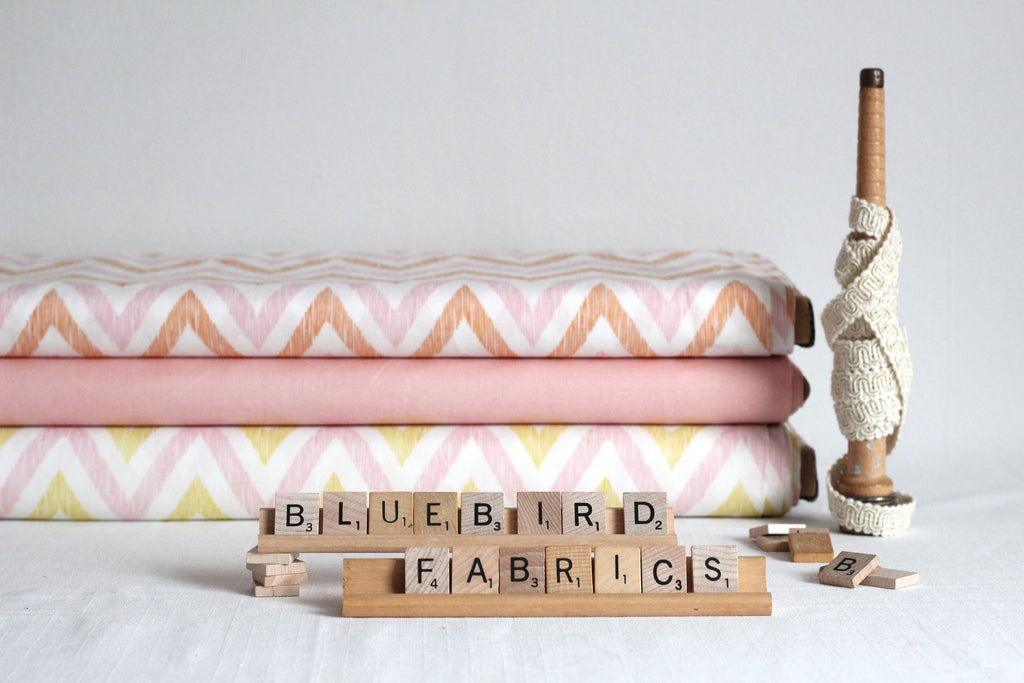 Peach Chevrons by Cloud 9 Fabrics
