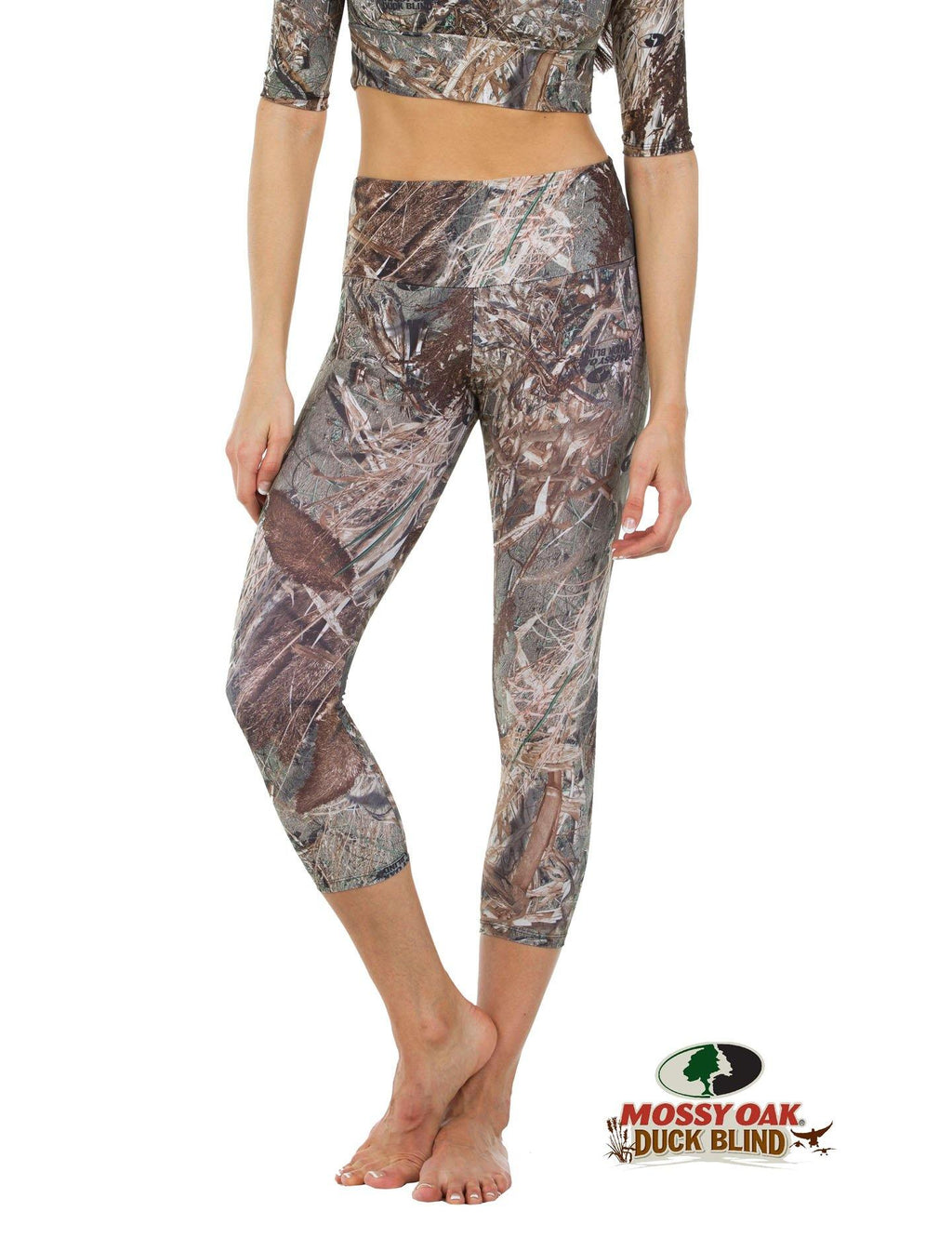 Apsara Leggings High Waist Cropped, Mossy Oak Duck Blind
