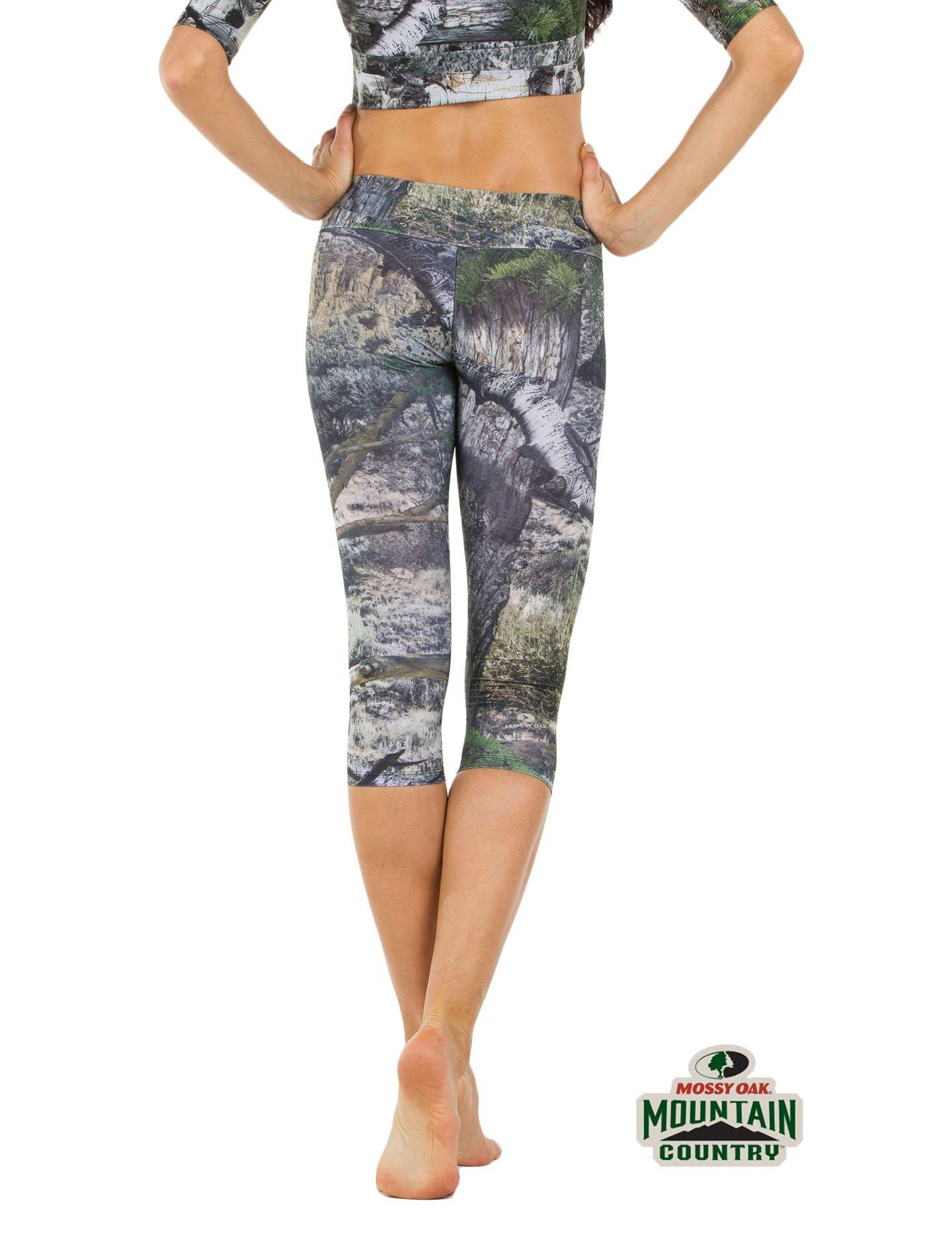 Apsara Leggings Low Waist Capri, Mossy Oak Mountain Country