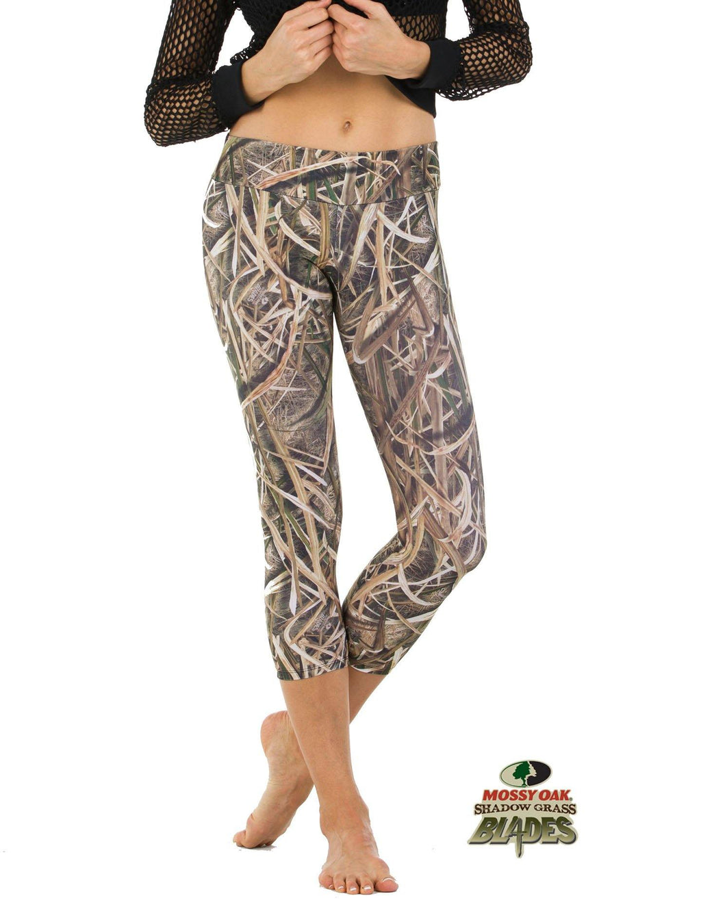 Apsara Leggings Low Waist Cropped, Mossy Oak Shadow Grass Blades - Apsara Style