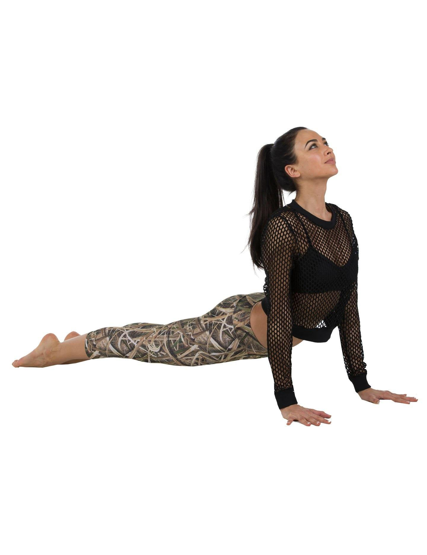Apsara Leggings Low Waist Cropped, Mossy Oak Shadow Grass Blades