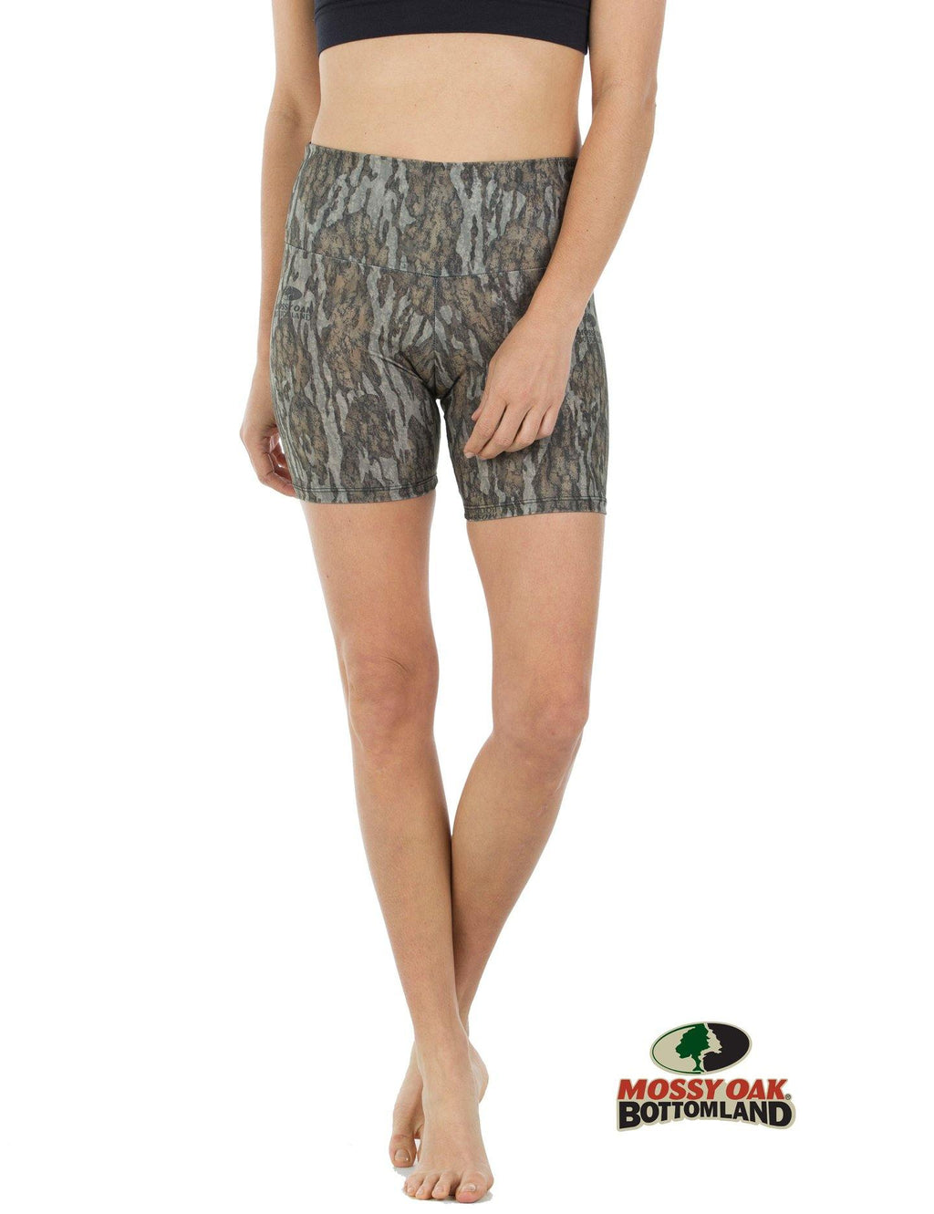 Apsara Shorts High Waist, Mossy Oak Bottomland