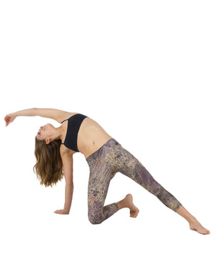 Apsara Leggings Low Waist Cropped, Mossy Oak Brush