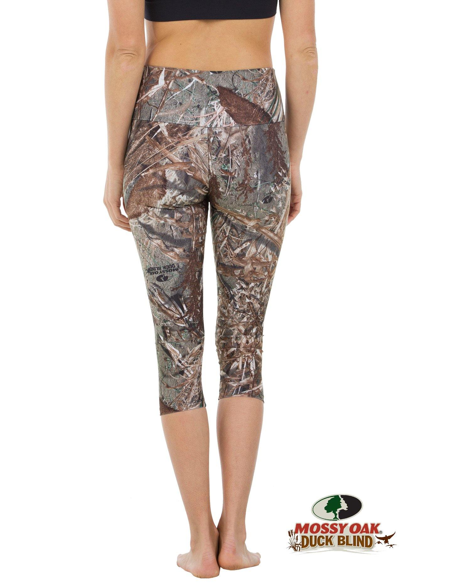 Apsara Leggings High Waist Capri, Mossy Oak Duck Blind