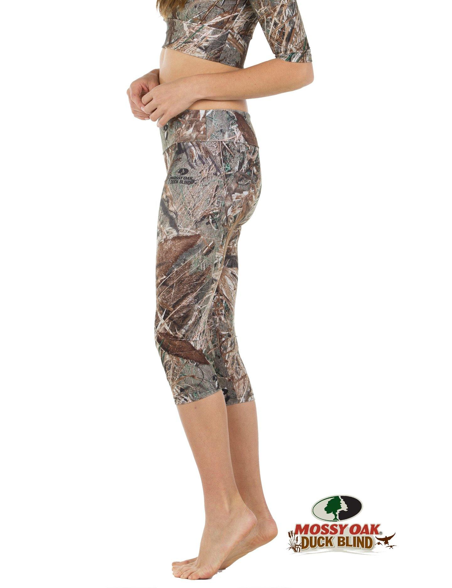 Apsara Leggings Low Waist Capri, Mossy Oak Duck Blind