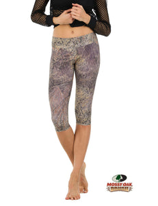 Apsara Leggings Low Waist Capri, Mossy Oak Brush