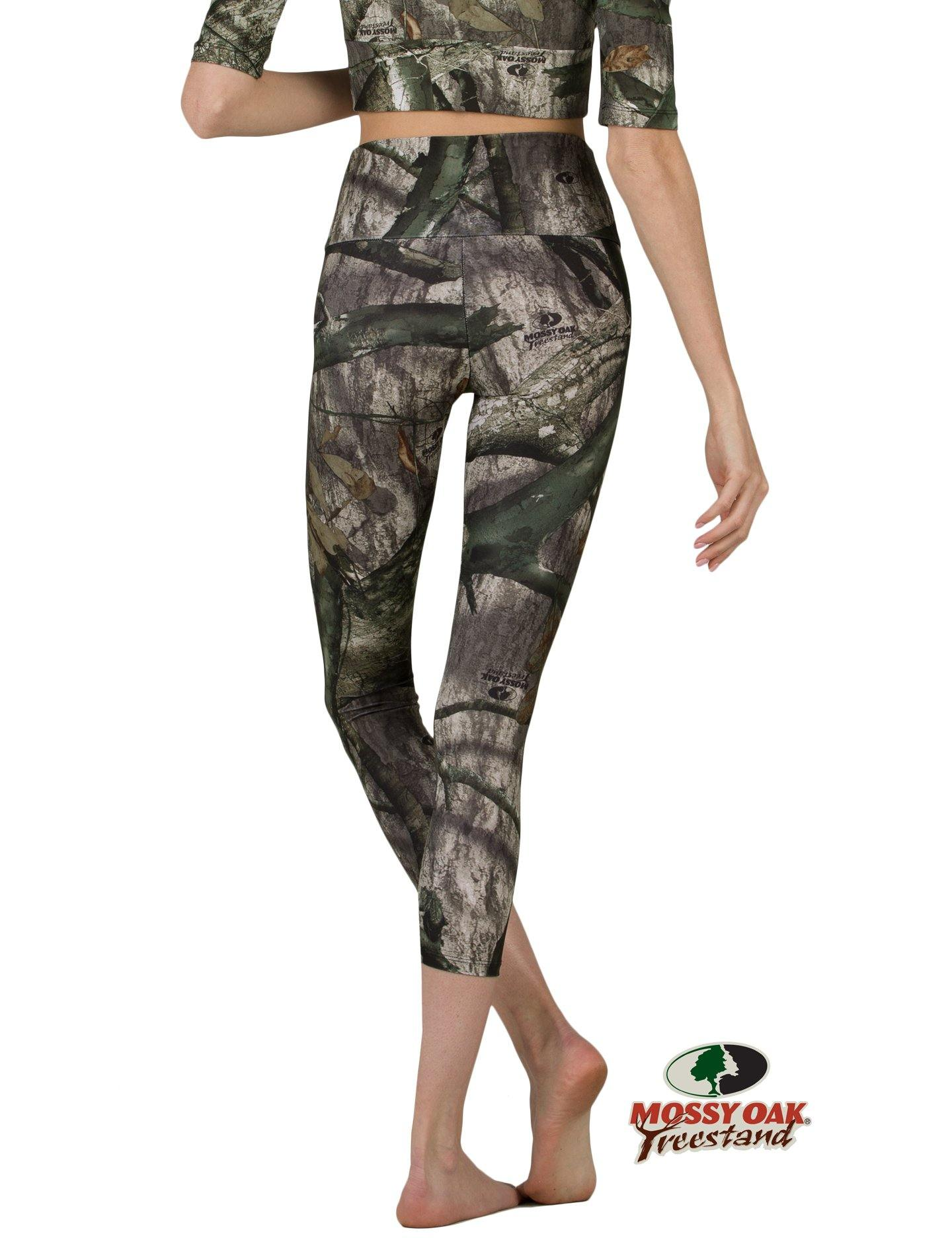 Apsara Leggings High Waist Cropped, Mossy Oak Treestand