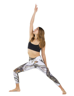 Apsara Leggings High Waist Cropped, Mossy Oak Break-Up Winter