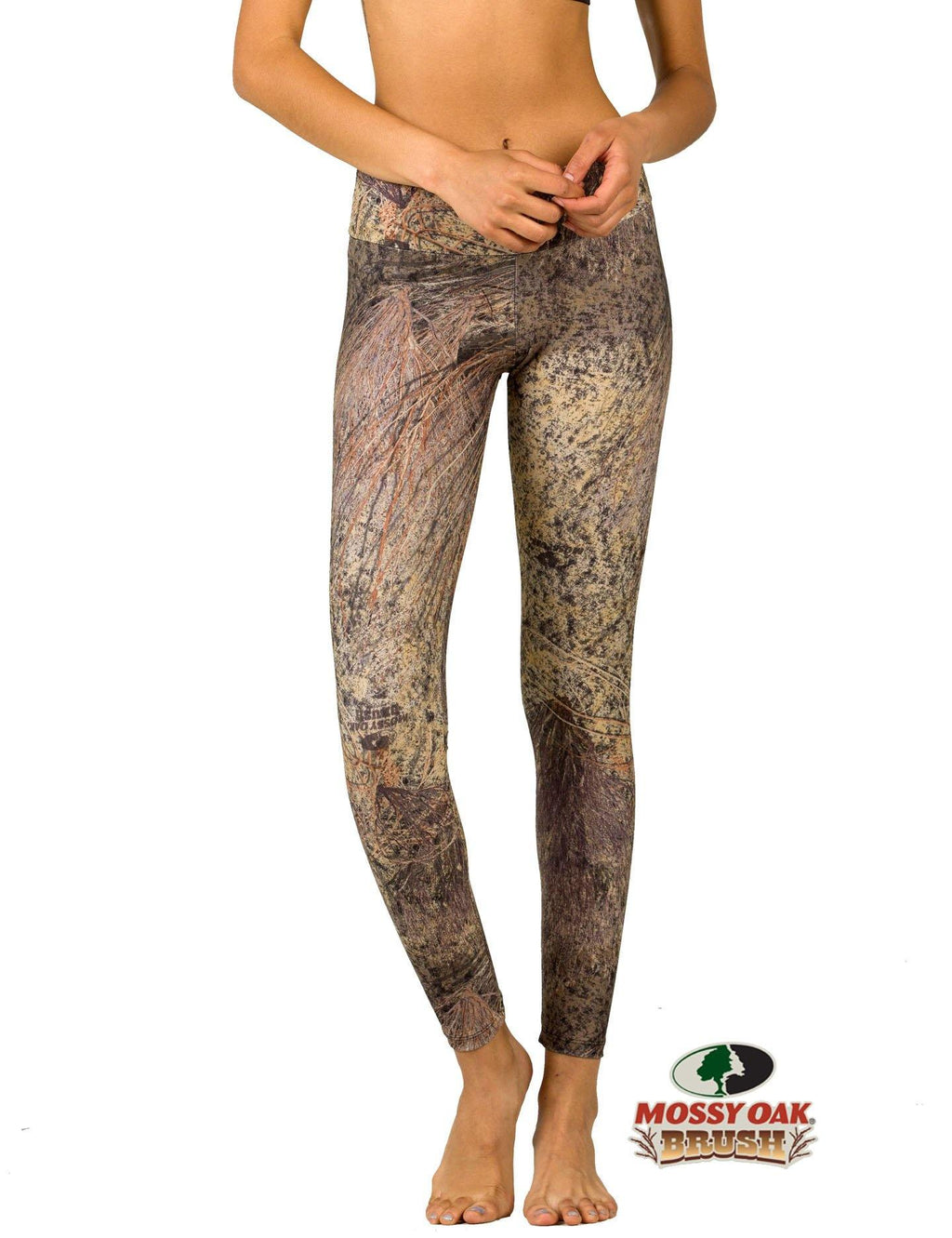 Apsara Leggings Low Waist Full Length, Mossy Oak Brush - Apsara Style