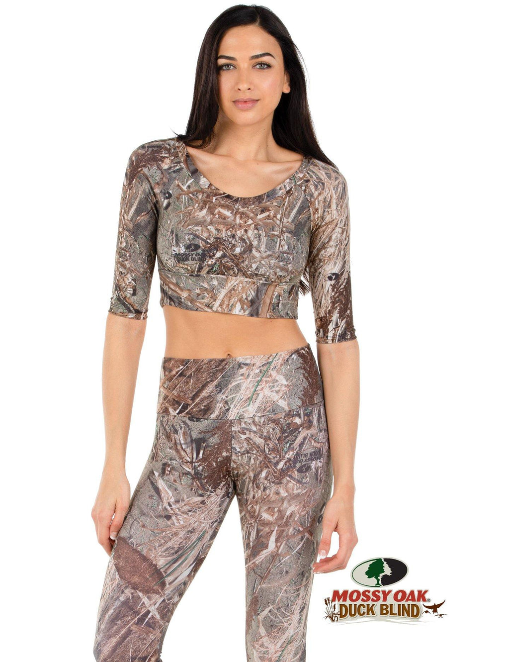 Apsara Cropped Top, Mossy Oak Duck Blind