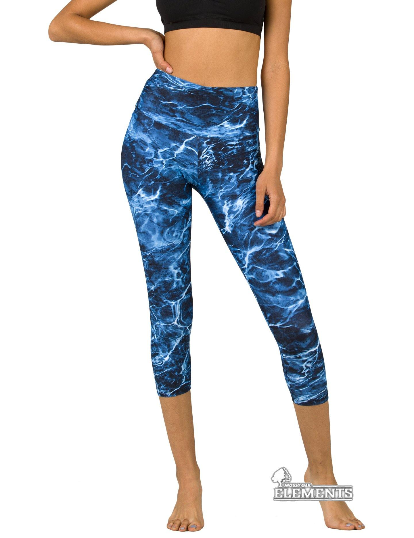 Apsara Leggings High Waist Capri, Mossy Oak Elements Marlin