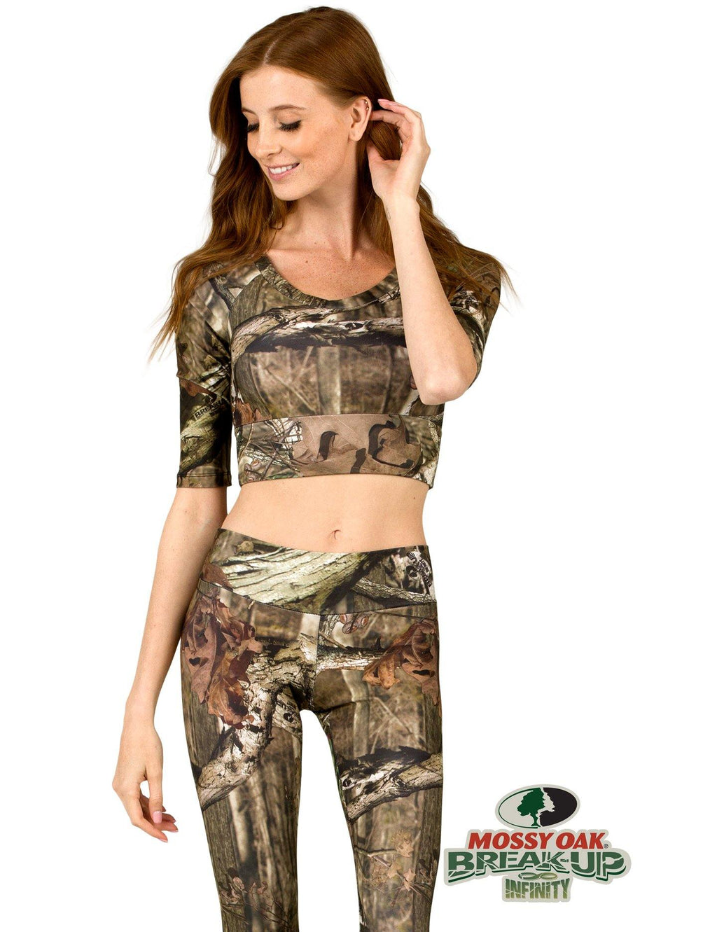 Apsara Cropped Top, Mossy Oak Break-Up Infinity