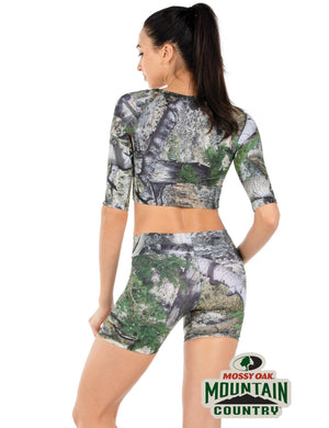 Apsara Cropped Top, Mossy Oak Mountain Country