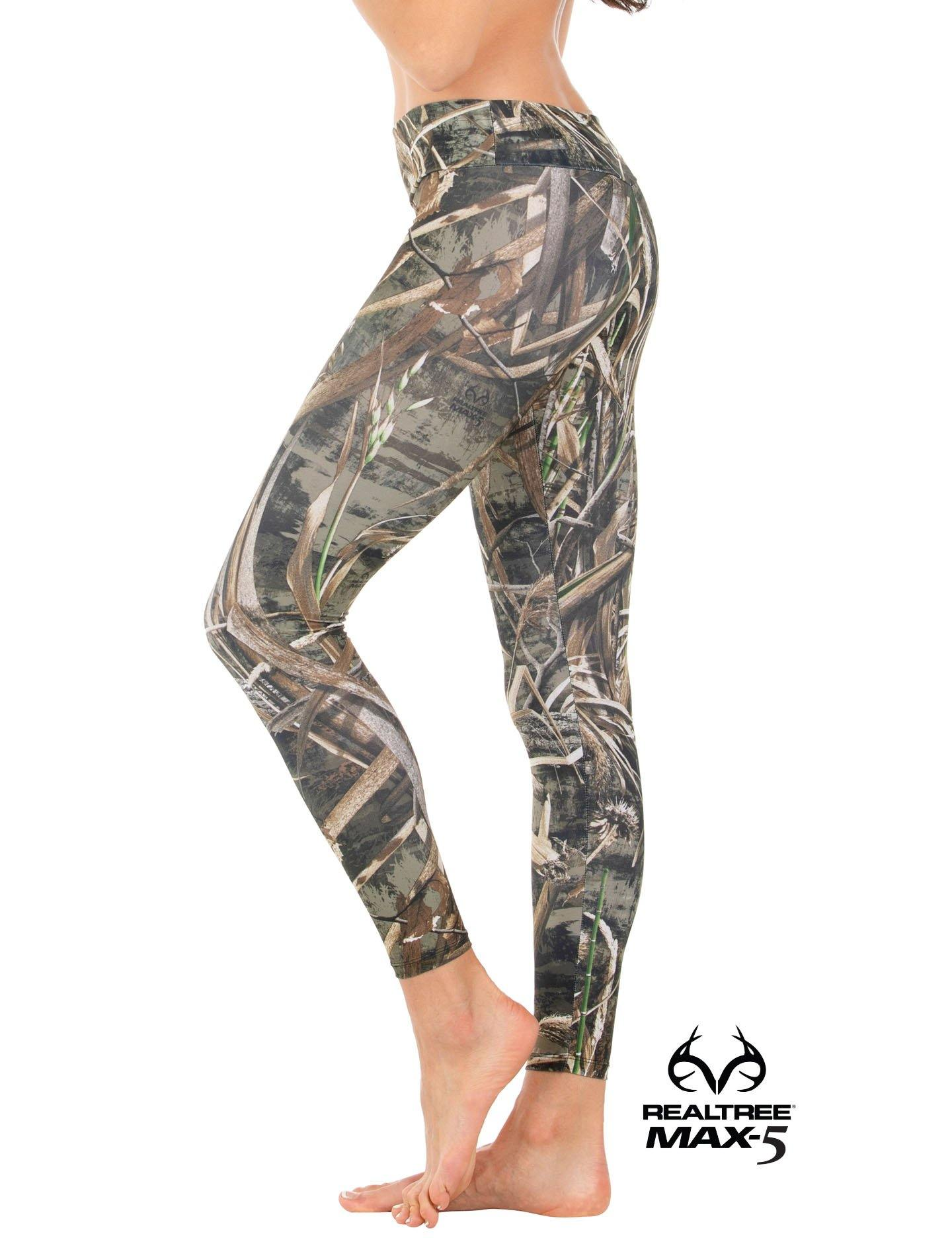 Apsara Leggings Low Waist Cropped, Realtree Max-5