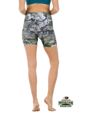 Apsara Shorts High Waist, Mossy Oak Mountain Country