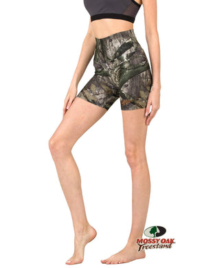 Apsara Shorts High Waist, Mossy Oak Treestand