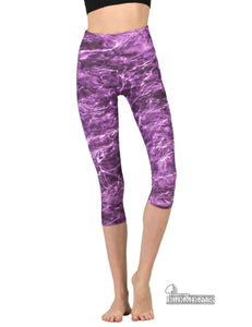 Apsara Leggings High Waist Capri, Mossy Oak Elements Tigerfish