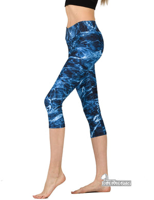 Apsara Leggings Low Waist Capri, Mossy Oak Elements Marlin