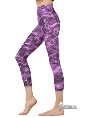 Apsara Leggings High Waist Cropped, Mossy Oak Elements Tigerfish