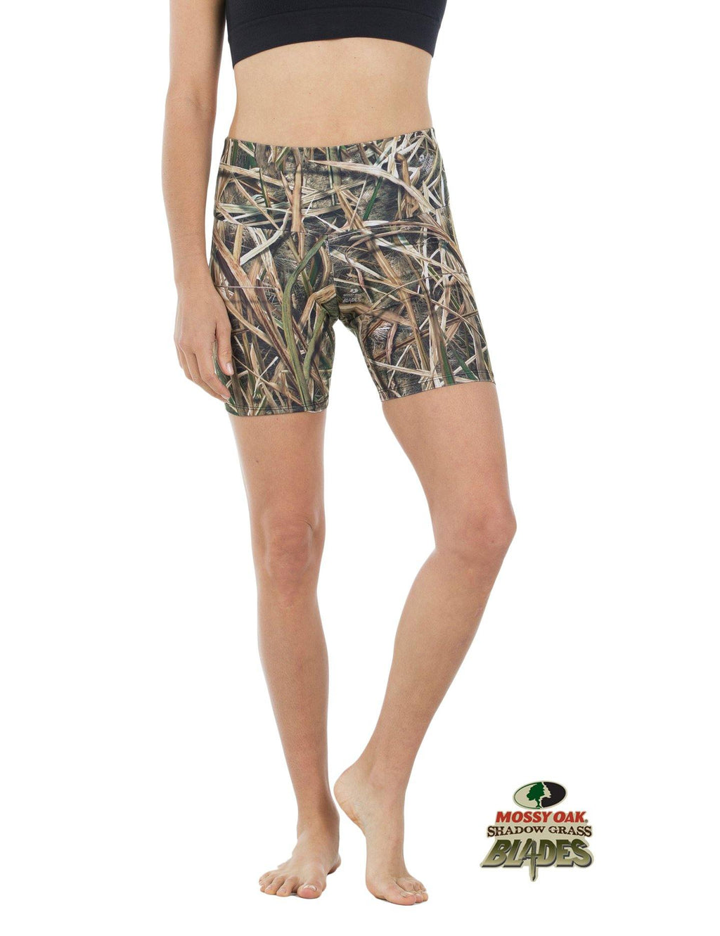 Apsara Shorts High Waist, Mossy Oak Shadow Grass Blades