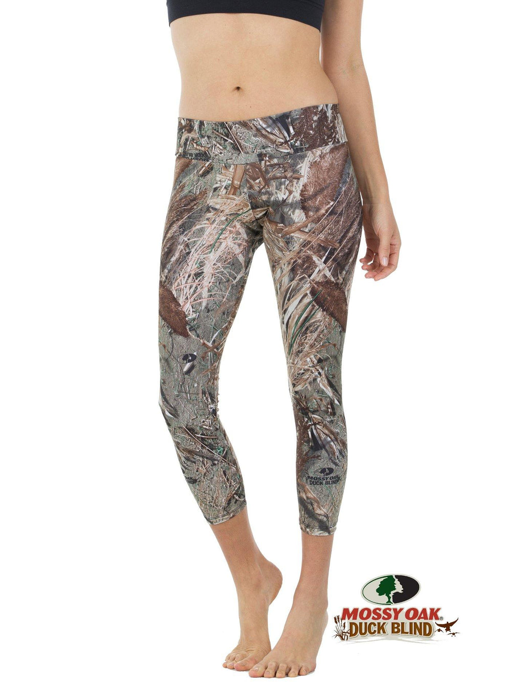 Apsara Leggings Low Waist Cropped, Mossy Oak Duck Blind