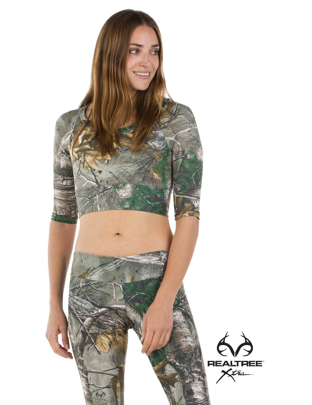 Apsara Cropped Top, Realtree Xtra
