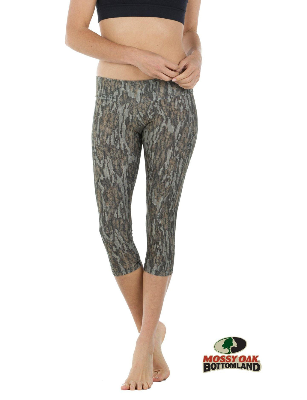 Apsara Leggings Low Waist Capri, Mossy Oak Bottomland