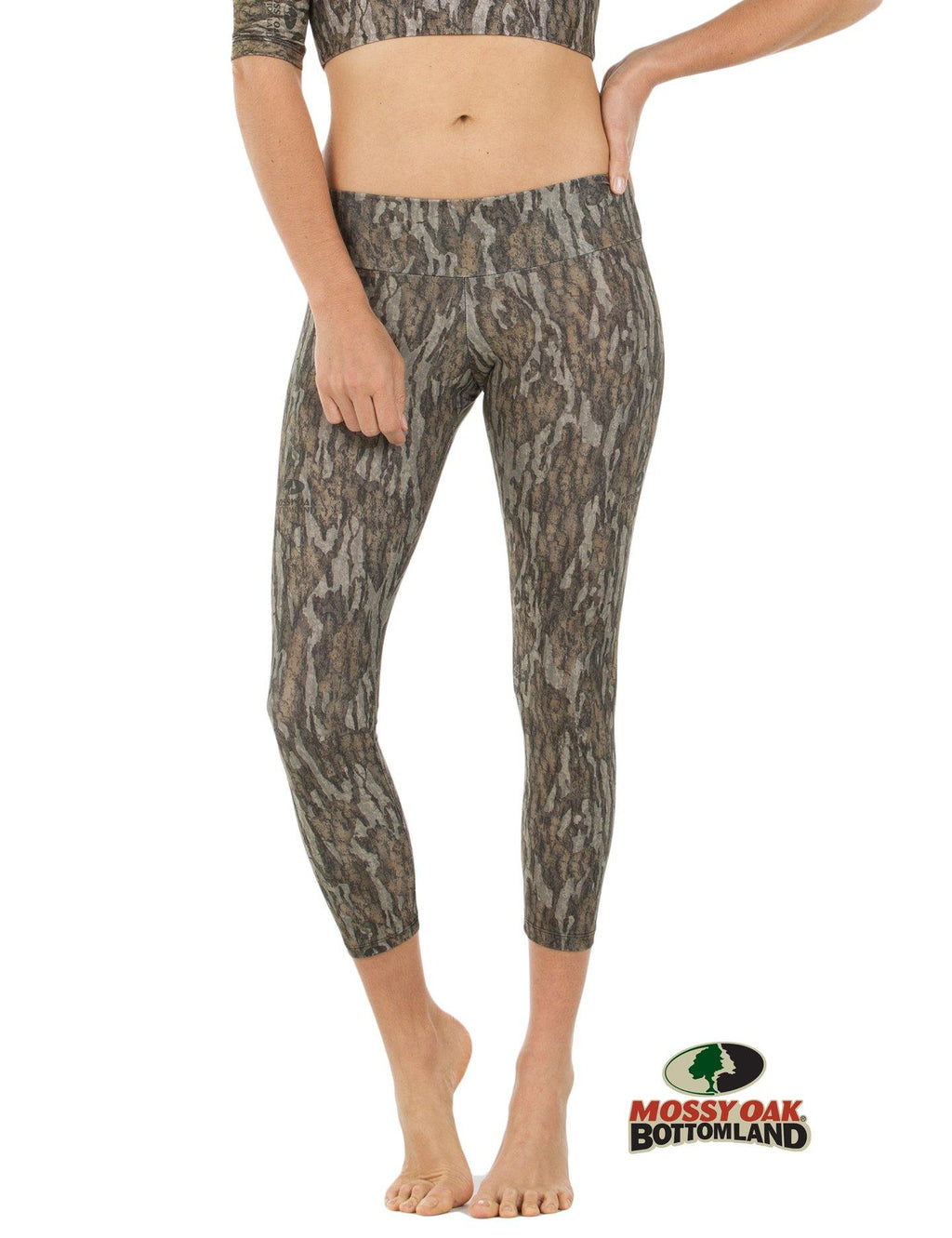Apsara Leggings Low Waist Cropped, Mossy Oak Bottomland