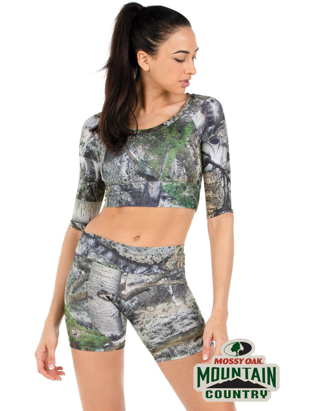 Apsara Cropped Top, Mossy Oak Mountain Country - Apsara Style