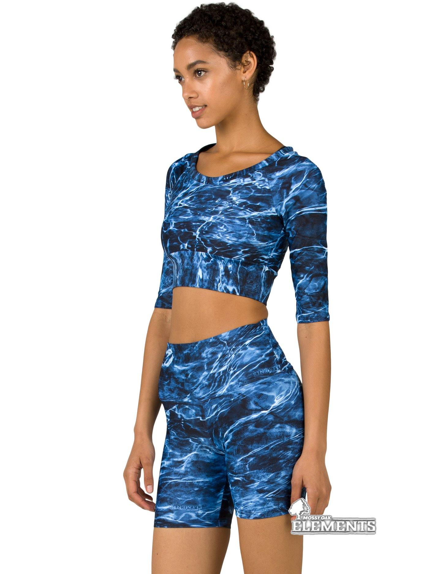 Apsara Cropped Top, Mossy Oak Elements Marlin
