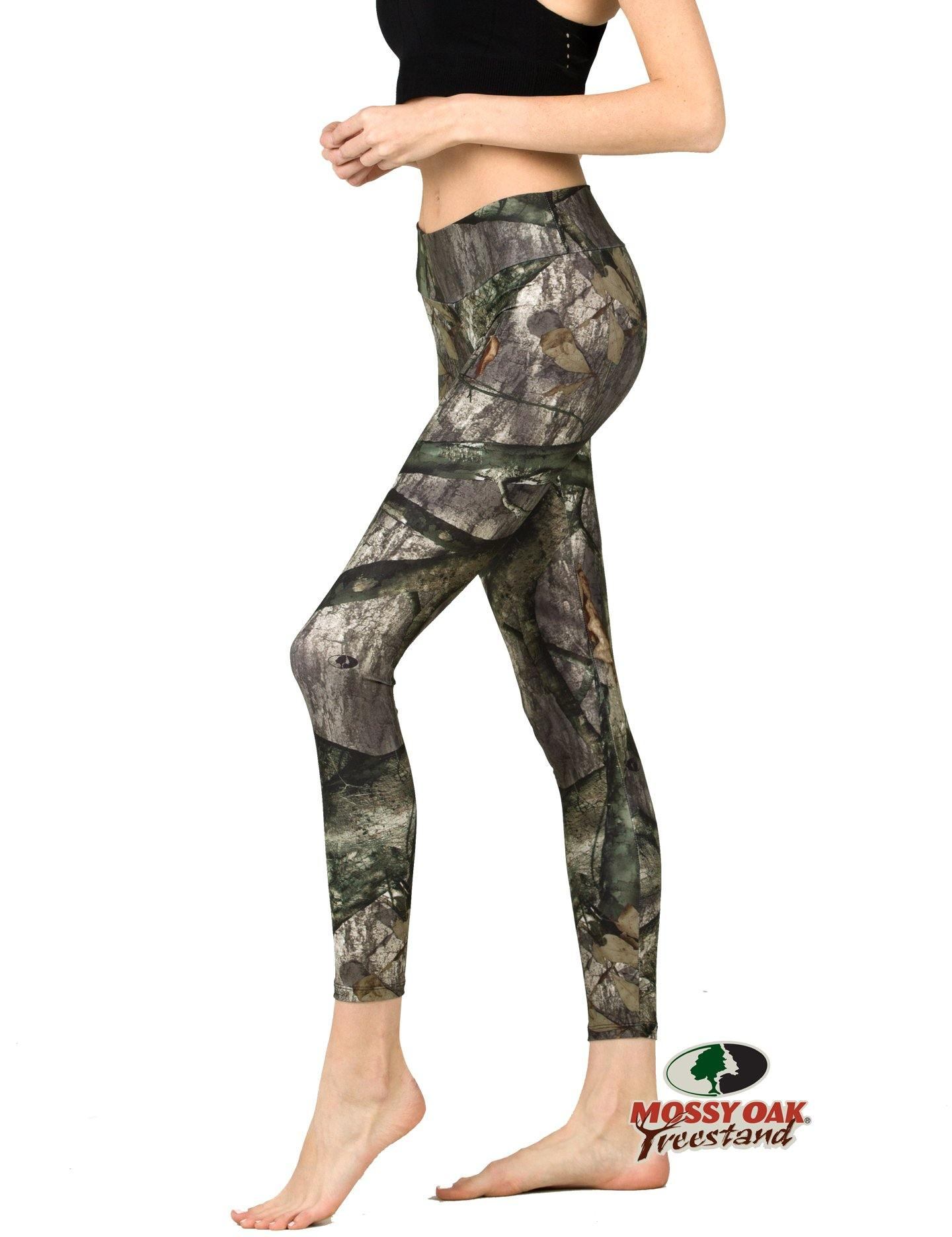 Apsara Leggings Low Waist Full Length, Mossy Oak Treestand