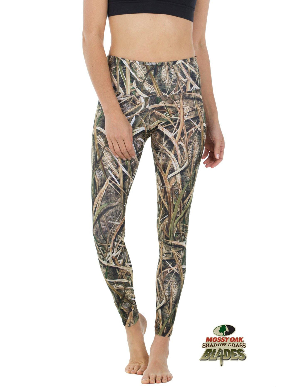 Apsara Leggings High Waist Full Length, Mossy Oak Shadow Grass Blades