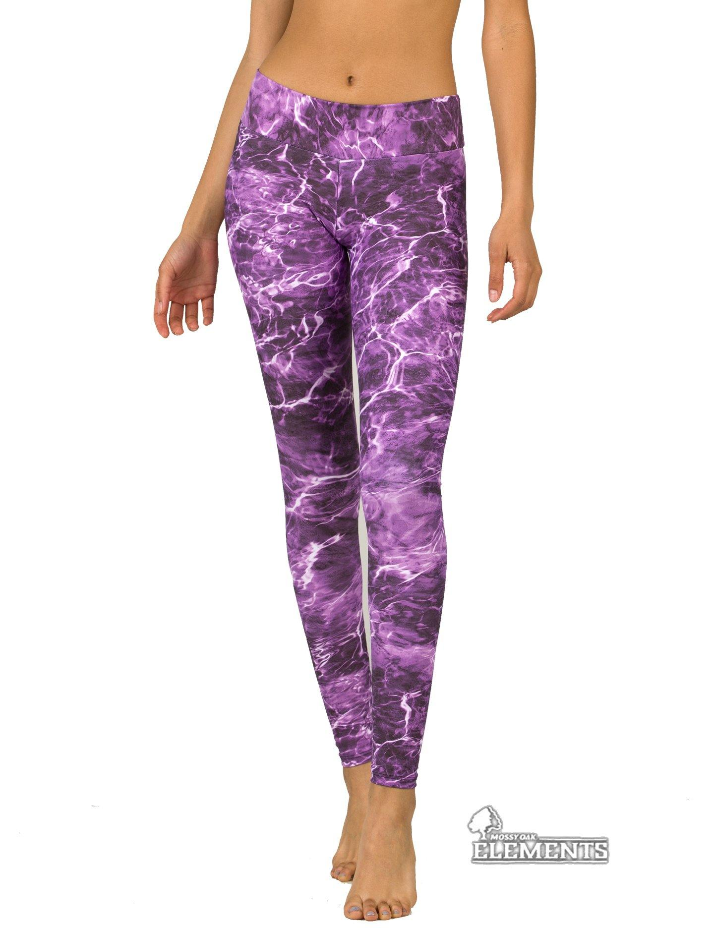 Apsara Leggings Low Waist Full Length, Mossy Oak Elements Tigerfish