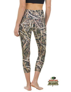 Apsara Leggings High Waist Cropped, Mossy Oak Shadow Grass Blades