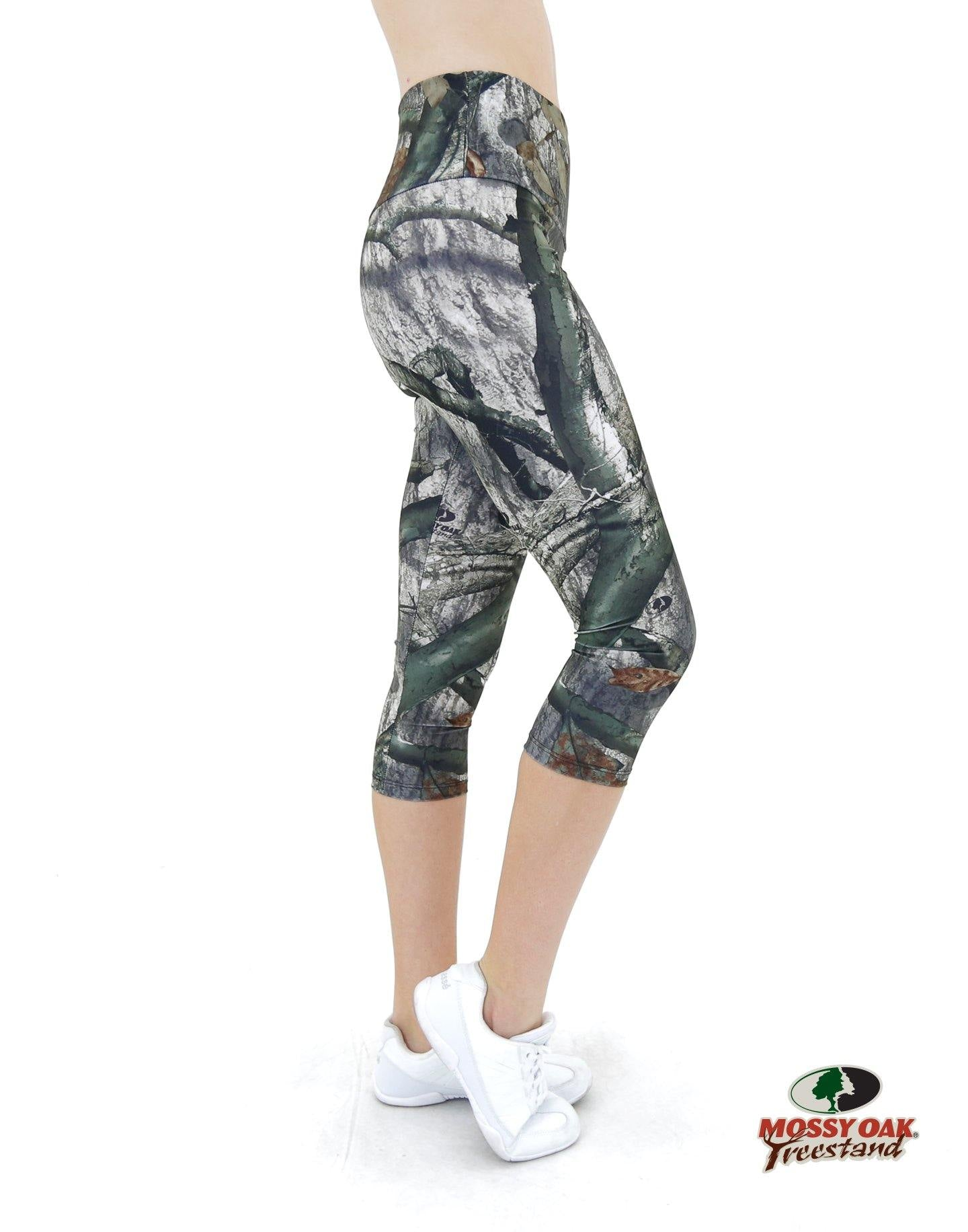 Apsara Leggings High Waist Capri, Mossy Oak Treestand