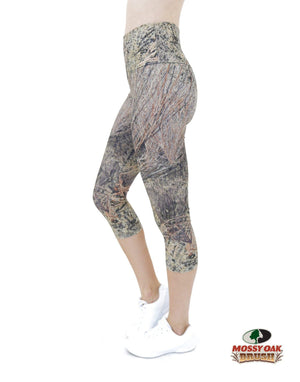 Apsara Leggings High Waist Capri, Mossy Oak Brush