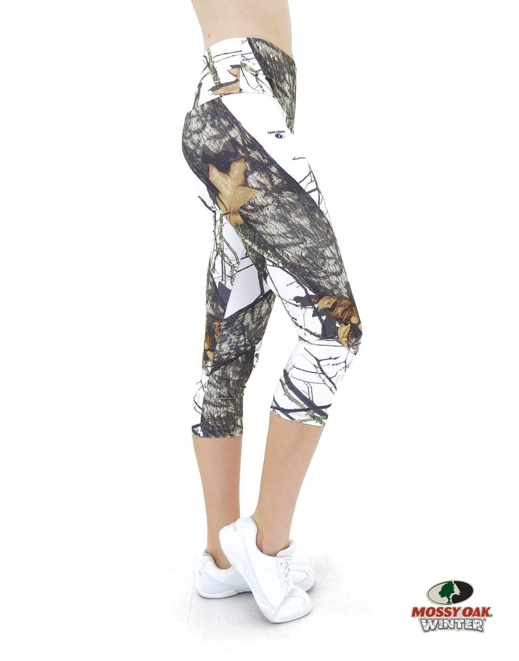 Apsara Leggings High Waist Capri, Mossy Oak Break-Up Winter - Apsara Style