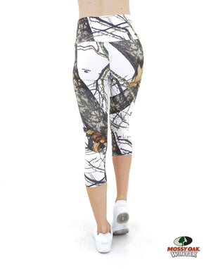 Apsara Leggings High Waist Capri, Mossy Oak Break-Up Winter