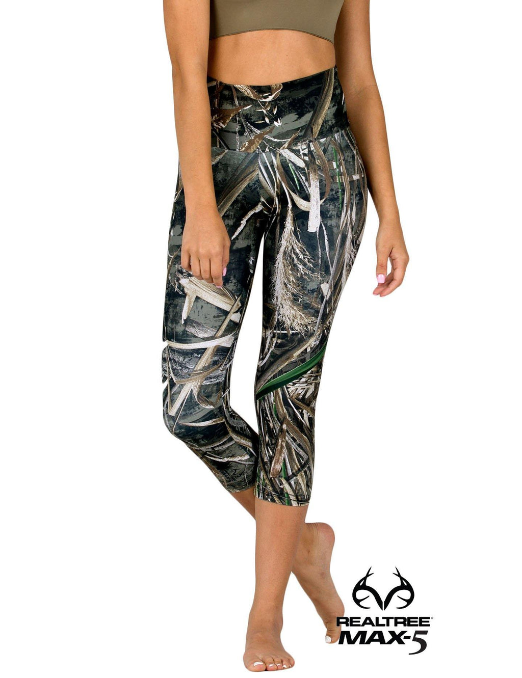 Apsara Leggings High Waist Capri, Realtree Max-5