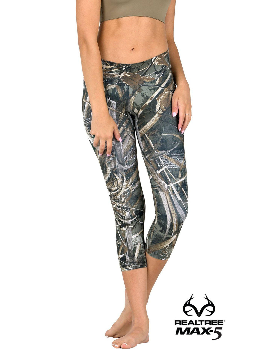 Apsara Leggings Low Waist Capri, Realtree Max-5