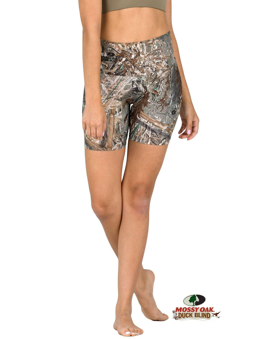 Apsara Shorts High Waist, Mossy Oak Duck Blind