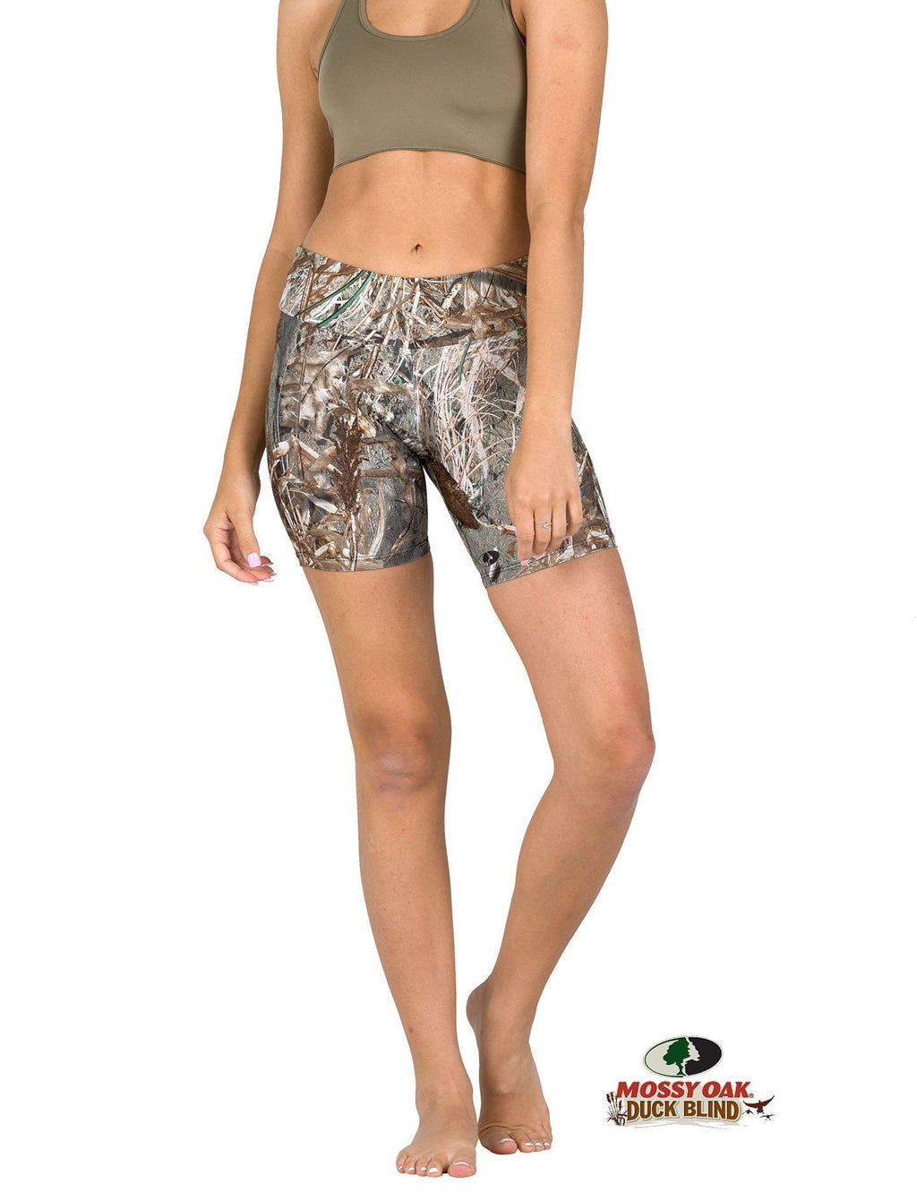 Apsara Shorts Low Waist, Mossy Oak Duck Blind