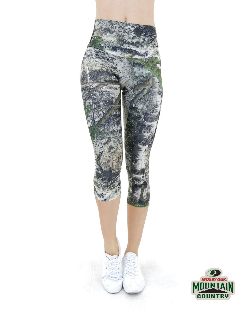 Apsara Leggings High Waist Capri, Mossy Oak Mountain Country