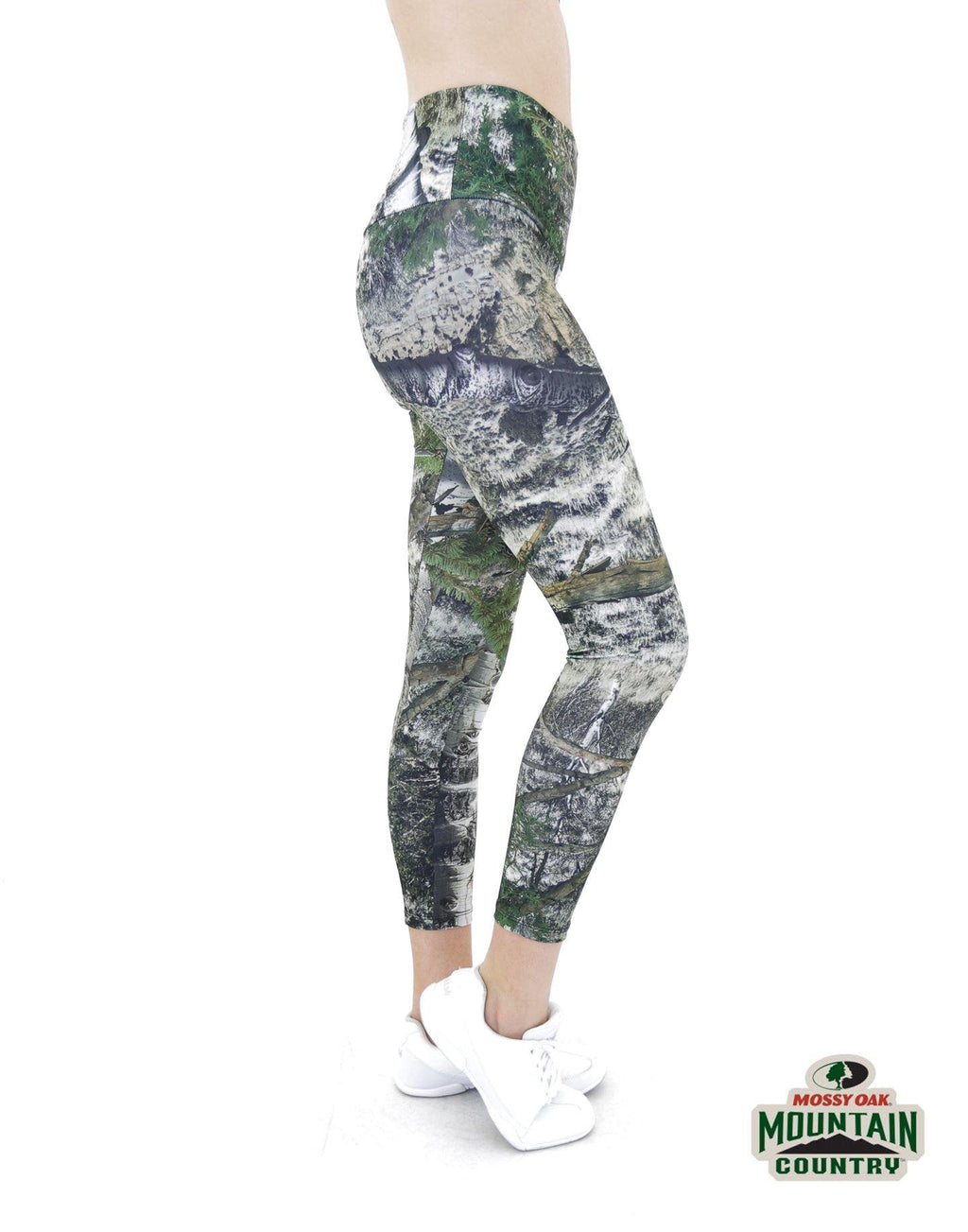 Apsara Leggings High Waist Cropped, Mossy Oak Mountain Country