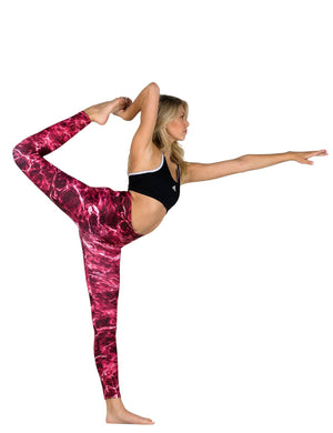 Apsara Leggings High Waist Full Length, Mossy Oak Elements Crimson