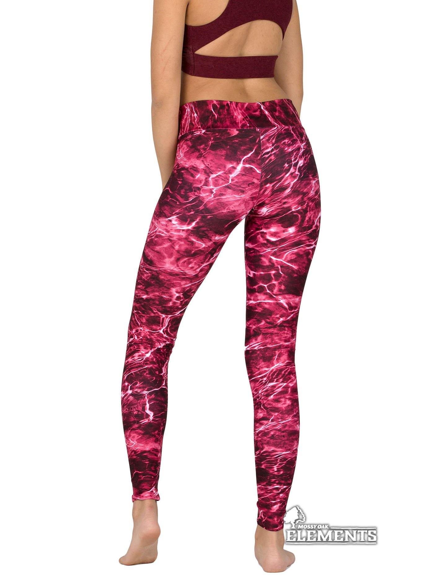 Apsara Leggings Low Waist Full Length, Mossy Oak Elements Crimson