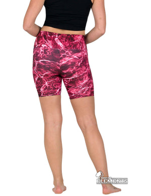 Apsara Shorts High Waist, Mossy Oak Elements Crimson
